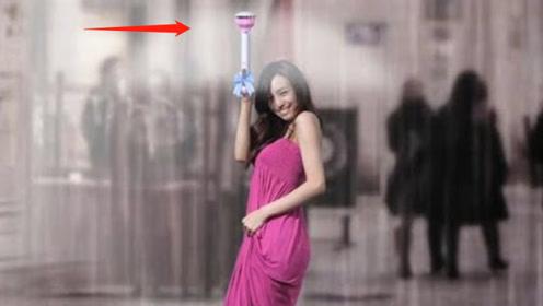 牛人发明没有伞面的雨伞,一问世便走红网络!网友:路人的噩梦!