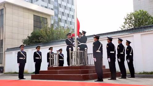 向祖国表白!江宁区城管局举行国庆升旗仪式