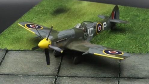 二战飞机模型着色旧化处理,手法老练得当,个中高手!