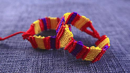 手链编织:教你编织好看的彩虹手链,适合女孩和小孩佩戴