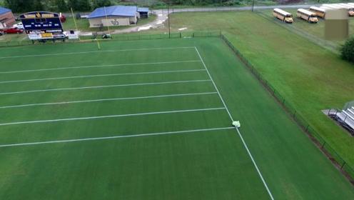 足球场上的白线原来这样画,全程几乎不用人工参与