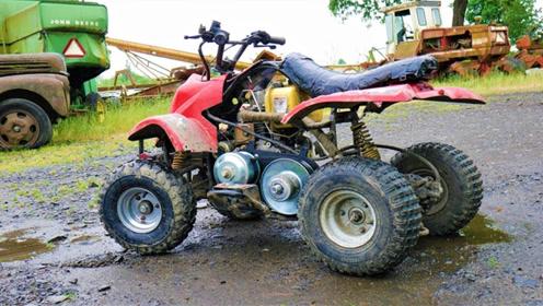 玩具车装发动机有多猛?老爸偷偷改装,极速48还敢给小孩开?