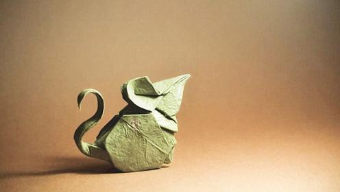 手工折纸教程,超可爱小老鼠的折纸方法,边看边学非常简单!