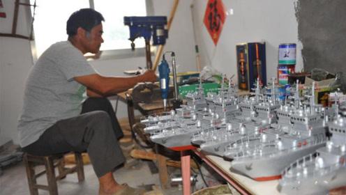 中国老渔民用废弃物品,打造能发射炮弹的军舰模型,太厉害了