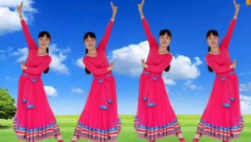 明天会更好广场舞《赞歌》老歌新跳,优美大气草原风
