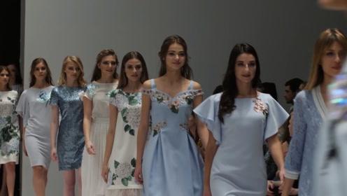 白俄罗斯时装周春夏新品成衣秀,Condra Deluxe超模清凉一夏