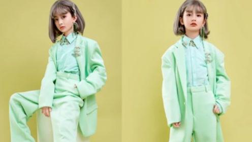 """""""最美童星""""裴佳欣太敢了,9岁就穿西装,还偷涂妈妈口红贼成熟"""