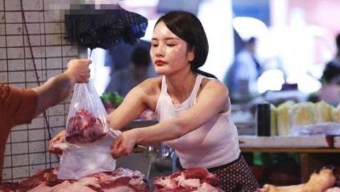 """美女卖猪肉成""""网红"""",气质不输模特,找男友的条件很特别"""