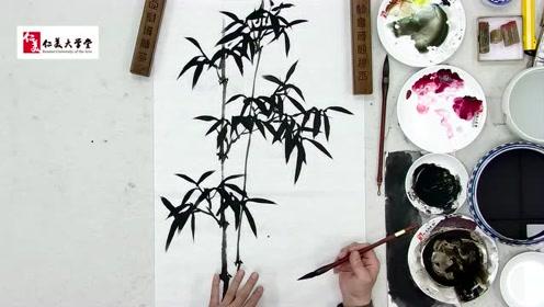 【国画教程】国家一级美术师史振岭教你画竹子 初学者必备