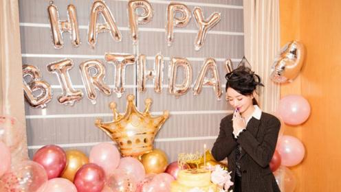 赵丽颖32岁庆生照曝光 双手合十许愿对镜浅笑
