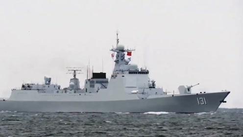 """拉横幅展""""大国风范""""的太原舰返航回国 途中会与日舰开展联合训练"""