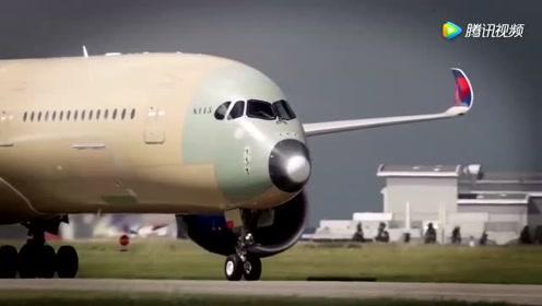 达美航空首架空客A350宽体机飞行