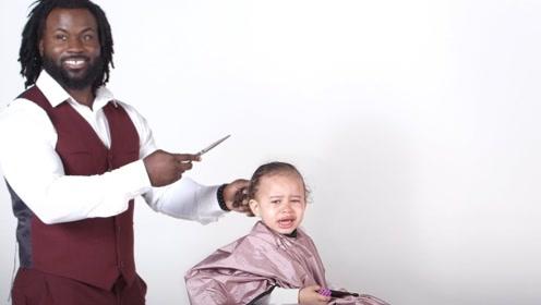 小朋友剪头发会是怎样的反应?被哭声笼罩的发型师,实在太难了