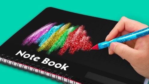 文具DIY创意小妙招,记事本简单改造一下,既实用又漂亮