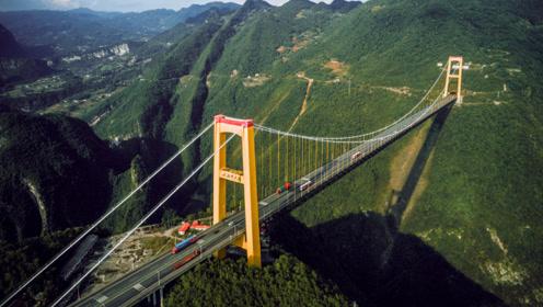 """中国最""""牛批""""的桥,靠近悬崖全长1365米,用火箭建造而成!"""