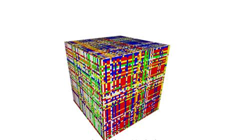 现实中不存在的55阶魔方,看着就像一团马赛克,人工智能能复原吗