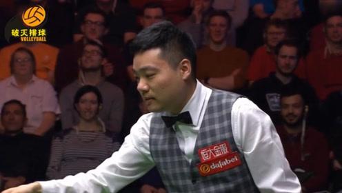 """丁俊晖冲击147最后时刻叫黄球失误,竟还和观众""""开玩笑"""":没事我翻袋!"""
