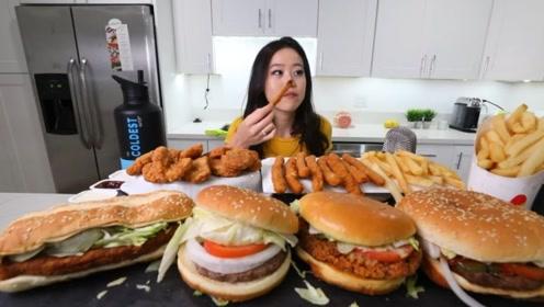 吃货的力量有多可怕?看小姐姐一次性吃完这么多东西,厉害了