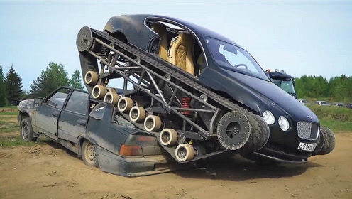 小伙爆改百万豪车,加两条履带,碾压各种地形
