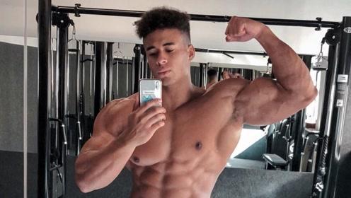 奥地利的健美少年,身高和肌肉的比例简直完美