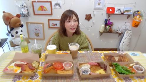 【木下大胃王】四国早餐!美国、葡萄牙、瑞士、英国