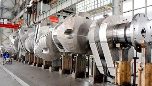 中国造世界最大船用曲轴,长23米重达452吨,要求精度达0.02毫米