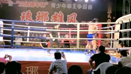 庄树松队员周宇参加比赛,对手体重比周宇大,比赛很精彩!