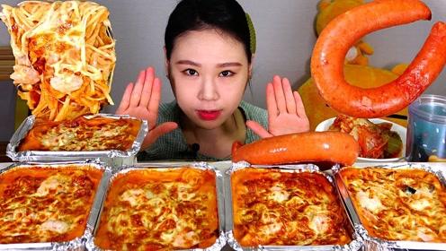 动手吃美食:吃美味奶酪面条 火腿肠