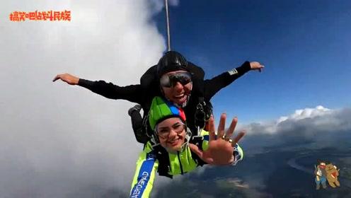 18岁生日第一次尝试跳伞,女孩落地后在妈妈怀里哭出了声