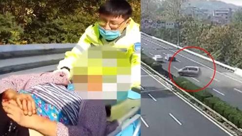 商务车高速爆胎失控猛撞护栏旋转4圈 祖孙二人未系安全带被甩出身亡