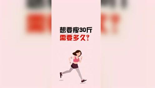 减肥:想要瘦30斤需要多久,你知道了吗!