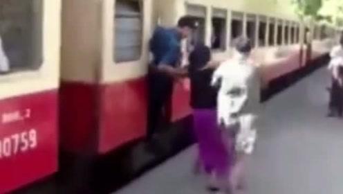 缅甸的火车到站不停,比印度火车还奇葩