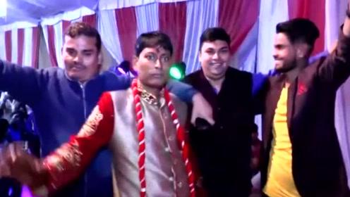 印度新郎婚礼撒酒疯大秀舞技后倒地,新娘:不嫁了,谁爱嫁谁嫁