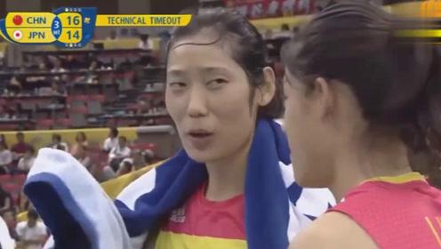 """张常宁一记暴扣,锤在日本大队长""""脸上"""",看看朱婷的小表情!"""