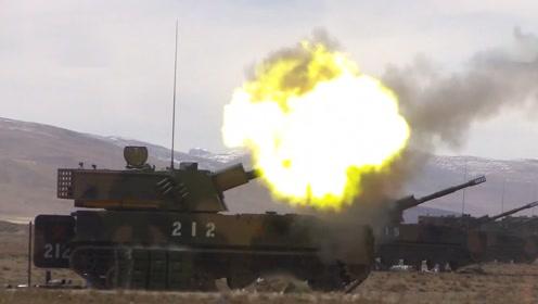 """隔山打牛!解放军重装部队西藏演习,迫榴炮""""间接瞄准""""打爆目标"""
