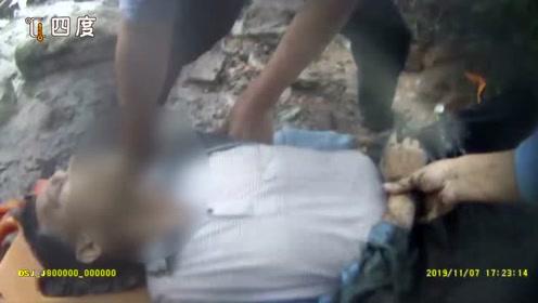 民警踏进臭水沟中解救69岁坠桥老人 10天前刚刚跳河救了落水女子