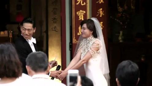 永远幸福!林志玲AKIRA婚礼现场甜蜜拥抱接吻