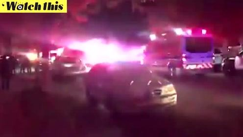 美国加州突发重大枪击案多人死亡 警车封锁现场