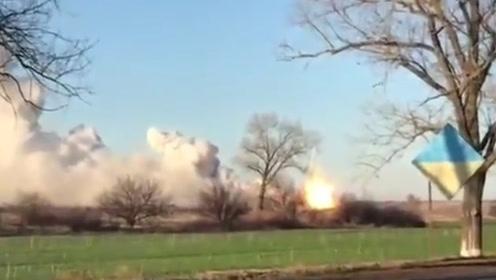 乌克兰一军火库现连环爆炸 已致2名工兵死亡5人受伤