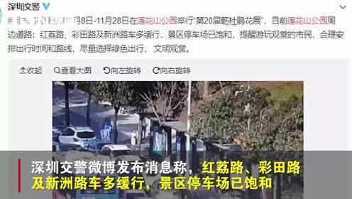 深圳一老人莲花山公园门外晕倒被救,福田公安队员背其奔往救援点