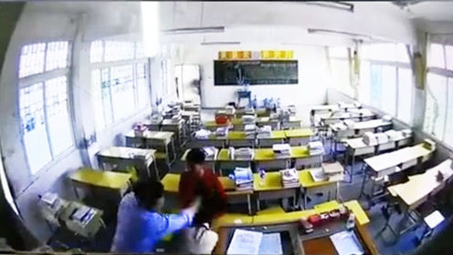 男子冲进教室殴打女老师 涉事男子:认错人已道歉