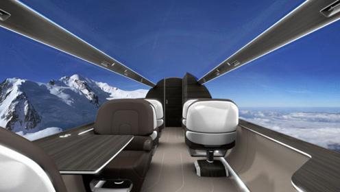 """美国耗资7.8亿美金,制造全球首架""""透明飞机"""",天空中吓得腿软"""