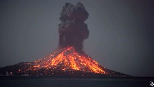 实拍国外火山喷发场景,这画面还真是惊险,堪比灾难电影现场