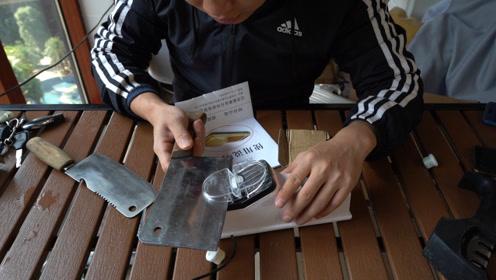 拆箱测评一款电动磨刀器,到底是懒人必备还是智商提取器?