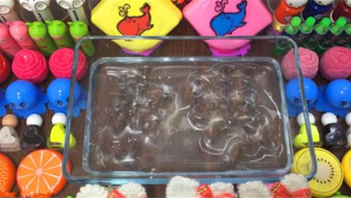 创意史莱姆教程,小章鱼彩泥+玫瑰花+指甲油+水果泥+透明水晶泥