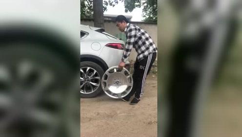 奔驰迈巴赫轮毂安装效果