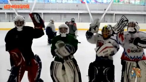 """终于赢了!冰球运动员赛场上跳""""江南style"""",球迷都笑场了"""