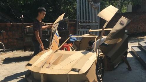 越南小伙手工打造法拉利,看到最后成品,简直不要太惊艳