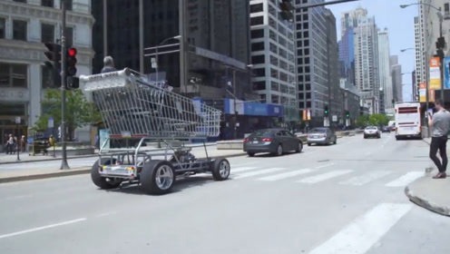老外改装购物车,300匹马力还能合法上路,没人敢拦它!