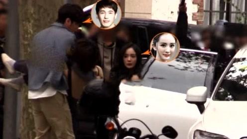 杨幂白宇拍摄新剧抢救昏倒女子,累得满头大汗,两人表演很到位